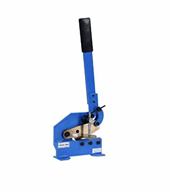 """Erie Tools 5"""" Mounting Benchtop Manual Hand Plate Shear Cuts Sheet Metal, Rebar, and Round Stock Cutter"""