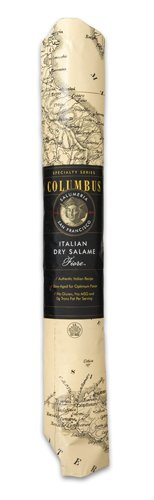 Columbus Salame Company Italian Dry Salame V2 Paper Wrap 3 Pound