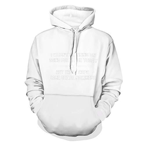 DAMKELLY Store Came Out of Nowhere Cool Individuality - Sudadera con capucha para hombre, diseño de color blanco, 5XL