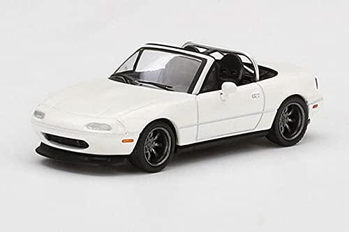 MINI GT 1/64 マツダ ミアータ MX-5 (NA) チューニングバージョン クラシックホワイト 右ハンドル 完成品