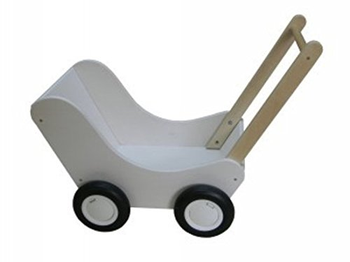 Van Dijk Toys Poppenwagen wit (flatpacked)