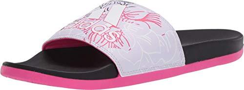 adidas Women's Adilette Comfort Slide, Purple Tint/FTWR White/Shock Pink, 6 M US