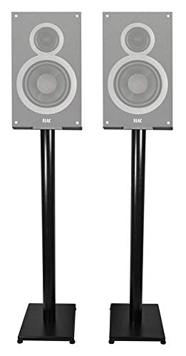 Great Price! Black 37 Steel Bookshelf Speaker Stands for ELAC B6 Bookshelf Speakers