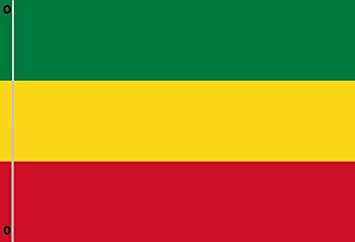 Durabol Bandera Rastafari Personalizada Vida Rasta Flag 90x150cm 2 Anillas metálicas fijadas en el Dobladillo