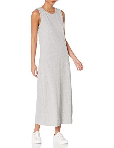 Daily Ritual Lived-In Cotton Sleeveless Maxi Dress Kleid, Hellgrau Meliert, L