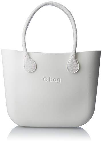 O bag B001, Borsa a Mano Donna, Bianco, 14x31x39 cm (W x H x L)