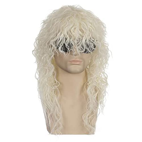 XIURAB Men's Personality Wig, Suitable for Parties, Role Playing