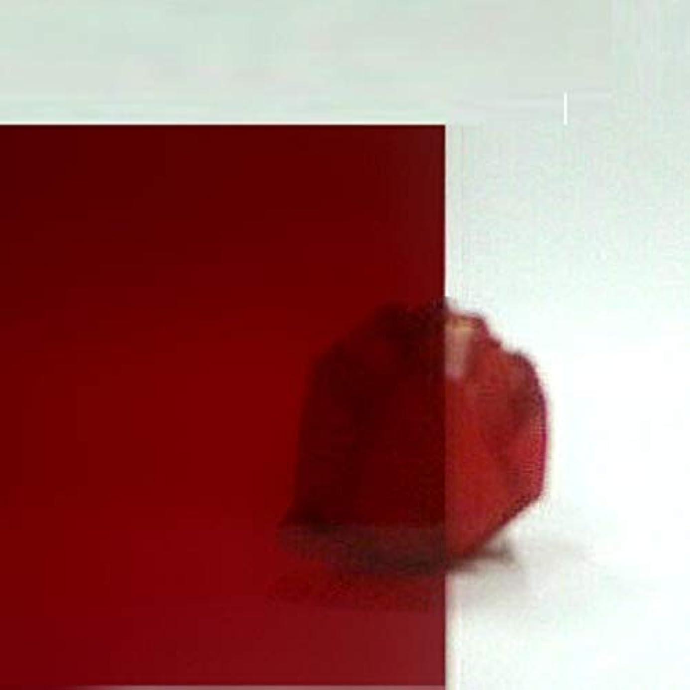 略す自動車ベル日本製 クラレックス アクリル板 レッド (精密セルキャストノングレア板) 厚み 3mm 1000×1000mm No.1 N-205全光線透過率12% (カット?キャンセル返品不可)