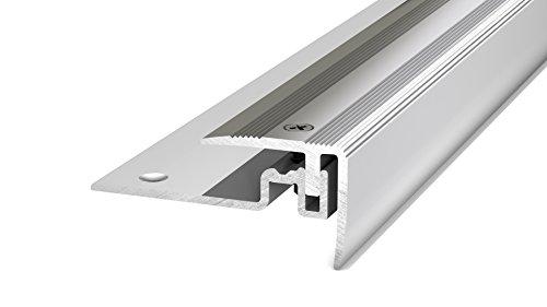 Prinz PS 400 Treppenkantenprofil -Für Belagstärken von 7 -15 mm silber 250cm 30 x 25 mm