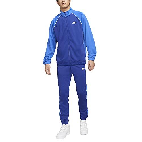 Nike Sportswear - Chándal de hombre de Poly azul, cód. CZ9988-455, azul marino / blanco, L