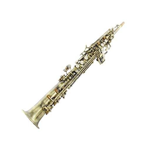 Gaoxingbianlidian001 Sassofono, sassofono a tubo integrato for violino piatto B, sassofono soprano a tubo dritto in bronzo, adatto a principianti for suonare strumenti musicali,Pura qualità del suono