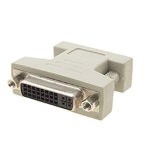 New Lon0167 Adaptador de convertidor hembra VGA macho a DVI-I de doble enlace(VGA-Stecker auf DVI-I-Dual-Link-Konverteradapter