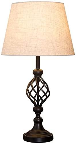 FHUA Lámpara Escritorio Lámpara de Mesa, lámpara de Mesa con Pintura de Hierro, lámpara de Noche Simple en la Sala de Estar, lámpara de decoración del hogar, lámpara de Mesa de Gran Tama?o