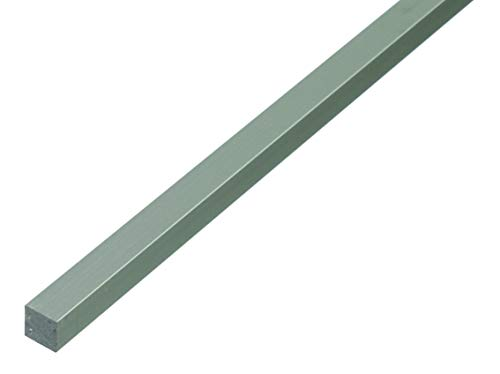 GAH-Alberts 473211 Vierkantstange | Aluminium, silberfarbig eloxiert | 1000 x 10 x 10 mm