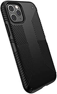 Speck Products Compatible Phone Case for Apple iPhone 11 Pro, Presidio Grip Case, Black/Black