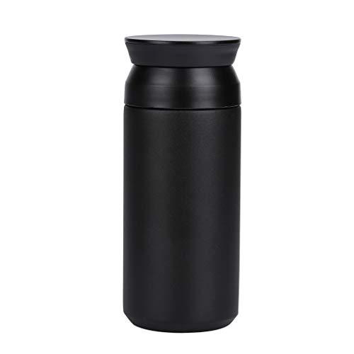 Termo de Café Taza de Viaje con Aislamiento al Vacío de 350ml de Acero Inoxidable para para Bebidas Frías y Calientes Bebidas té Agua Negro