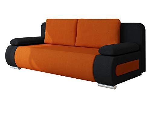 Mirjan24 Schlafsofa Emma, Sofa mit Bettkasten und Schlaffunktion, freistehendes Bettfofa, Couchgarnitur, Schlafcouch, Couch vom Hersteller (Alova 04 + Alova 43)