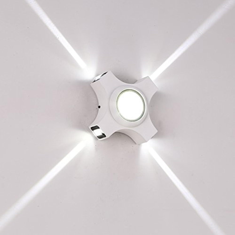 StiefelU LED Wasserfeste Auen-Wandleuchten outdoor wasserdicht Wandleuchten Strahler cross Star Light exterior Hintergrund Dekoration, weien Sandstrand schwarz (5W LED)