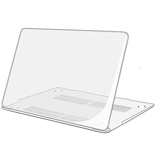 TECOOL Hülle für MacBook Air 13 Zoll Retina 2018 2019 2020 (Modell: A2337 M1 / A2179 / A1932), Plastik Hartschale Schutzhülle Hülle für Neuen Apple MacBook Air 13,3 Zoll mit Touch ID -Kristallklar