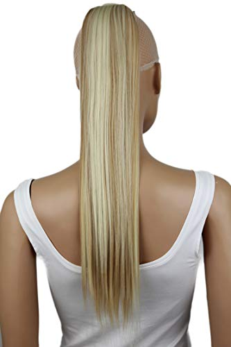 PRETTYSHOP Postiche postiche queue de cheval ondulée extension de cheveux queue de cheval 60 cm Mélange blond # 27H613 HCK7