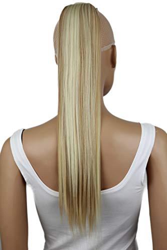PRETTYSHOP 60cm Haarteil Zopf Pferdeschwanz Haarverlängerung Glatt Blond Mix HCK7