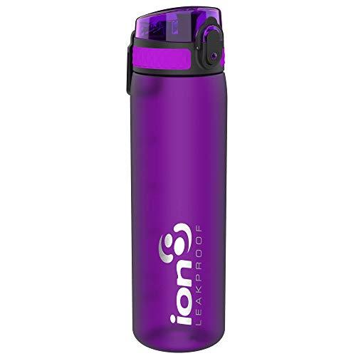 ion8 auslaufsichere Schlanke Wasserflasche/Trinkflasche, BPA-Frei, 500ml / 18oz, Lila