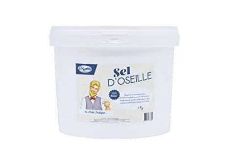 VOZYDEO - Sel d'Oseille - 4 KG - Détachant Naturel - Nettoyant Multi Supports - Redonne Éclat au Linge Blanc - Produit Naturel et Biodégradable - Non Toxique