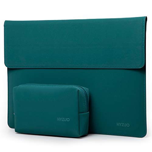 HYZUO 13 Inch Laptop Sleeve Case Cover with Stand Feature Compatible with MacBook Air 13 2018-2020/ MacBook Pro 13 2016-2020/ iPad Pro 12.9 2018 2020/ Surface Pro X 7 6 5 4/ Dell XPS 13, Dark Green