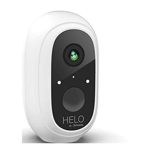 HELO by STRONG Cámara de Vigilancia, ampliación para Kit de Camera Helo, (Full HD, inalámbrica, batería de Larga duración, Impermeable, para Interiores, Exteriores, visión Nocturna), Color Blanco