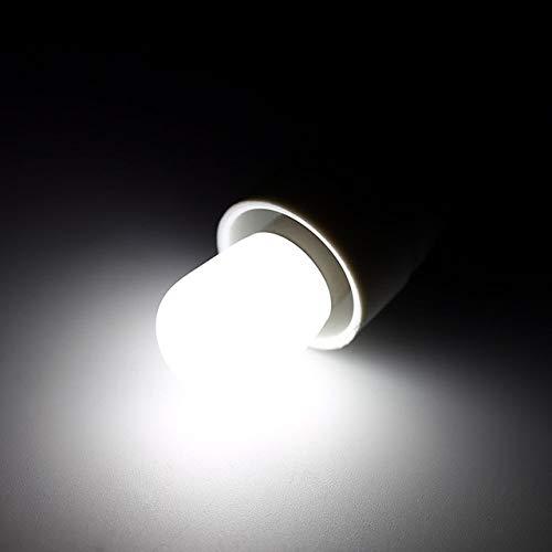TZZD Bombilla de luz LED E14 Nevera Congelador Aparato se enfríe/Bulbo Blanco Caliente Ahorro de energía Tornillo Bombillas Accesorios de la lámpara (Color : Blanco)
