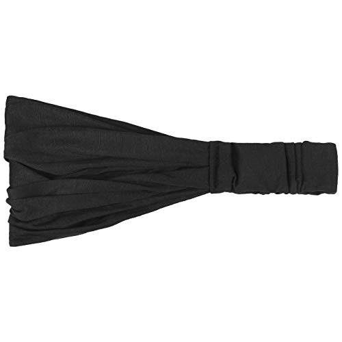 Hutshopping Haarband für Frauen - sportliches Bandana Kopftuch in Einheitsgröße (52-60 cm) - Stirnband Frühjahr Sommer schwarz