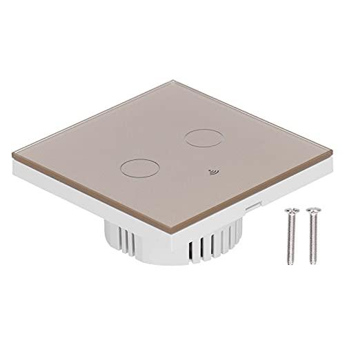 Veloraa Interruptor Temporizador, Interruptor Inteligente Duradero de 2 vías sin Condensador para Zigbee(Oro, Transl)