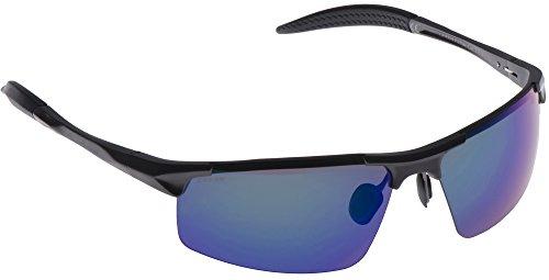 Cressi Gafas de Sol, Unisex Adulto, Negro Brillante/Lentes Azul, Cabrio