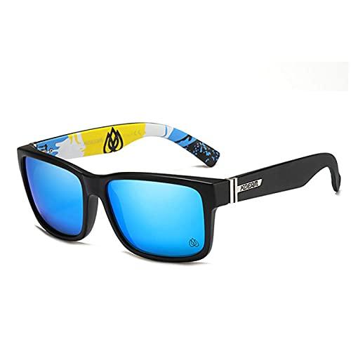 WQZYY&ASDCD Gafas de Sol Gafas De Sol Cuadradas Polarizadas para Hombre, Estilo Deportivo, Gafas De Sol, Conducción, Pesca, Gafas, Hombre-New_Blue