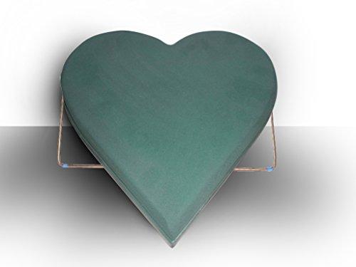 30er Herz, Steckmasse auf Platte mit Ständer; 30 x 28 x 5 cm; Steckschwamm; Frischblumenschwamm
