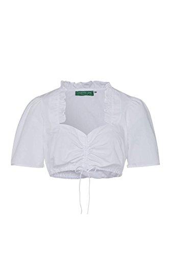 Moser Trachten Dirndl Bluse weiß Maja 001416 von CountryLine, Material Polyester, Größe 44