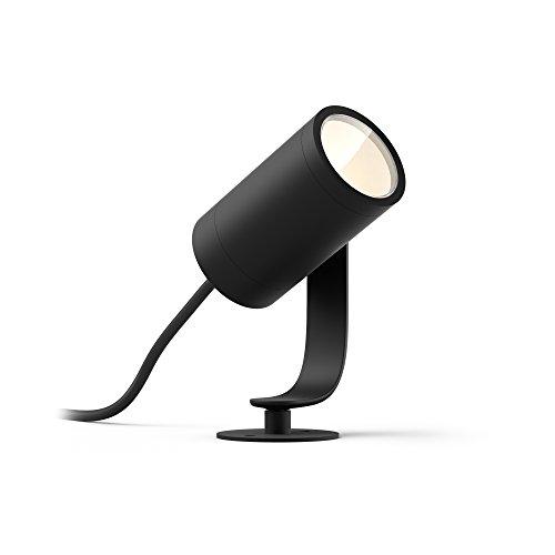 Philips Hue White and Color Ambiance - Foco LED para jardín (1 unidad, intensidad regulable, hasta 16 millones de colores, controlable mediante aplicación, compatible con Amazon Alexa (Echo, Echo Dot)