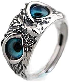 Personalized retro devil's eye owl finger ring fashion hipster men and women hip hop adjustable ring