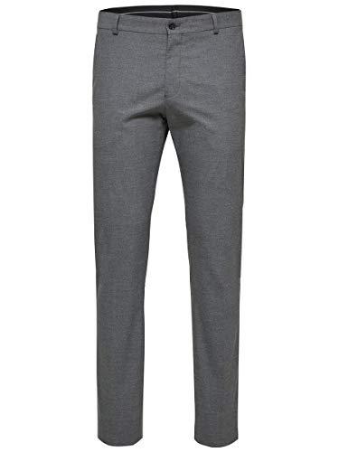 SELECTED HOMME Herren SHDNEWONE-MYLOLOGAN1 Trouser NOOS Anzughose, Grau (Medium Grey Melange), 46