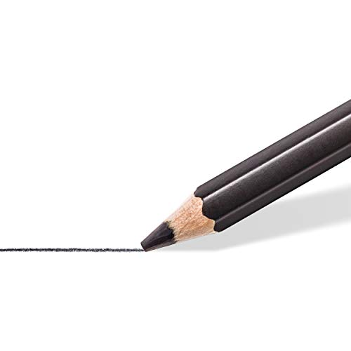 Staedtler Mars Lumograph Black, Carbon Blend Provides Jet Black Lines, Professional Art Pencils, Tin of 8 Assorted Sketch Pencils, 100B G6 Photo #3