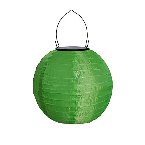 Orientalische Exotik Solarlaternen für den Außenbereich, 20,3 cm, wasserdichte Solar-LED-Gartenlaterne, leuchtende Lampe für Garten, Rasen, Party, Outdoor-Dekoration Gr. Einheitsgröße, grün