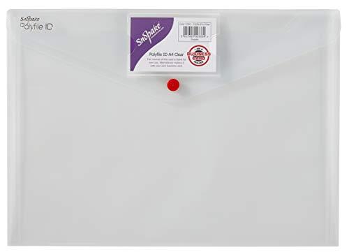 Snopake 12560 Lot de 5 chemises en polypropylène Polyfile A4 avec porte carte 5 claire