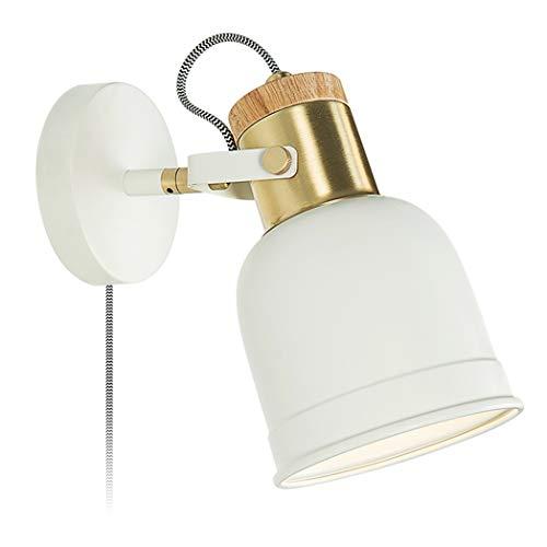 QJY led-wandlampen, minimaslist wandlampen, wandlamp, wandlamp, accessoires met kabel voor eetkamer, slaapkamer, café, bar, hoofdlamp, hoeken.