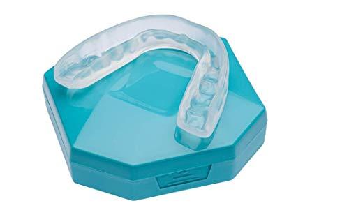 Premium Gouttiere Dentaire Nocturne Thermoformable Bruxisme Protège Grincements de dents - orthèse contre le problèmes de l'ATM (Aquamarine)