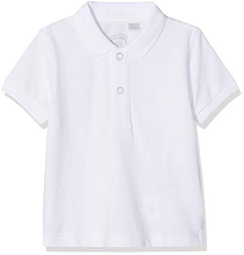 Chicco Chicco Baby-Mädchen Polo Manica Corta Poloshirt, Weiß (Bianco 033), 86 (Herstellergröße: 086)