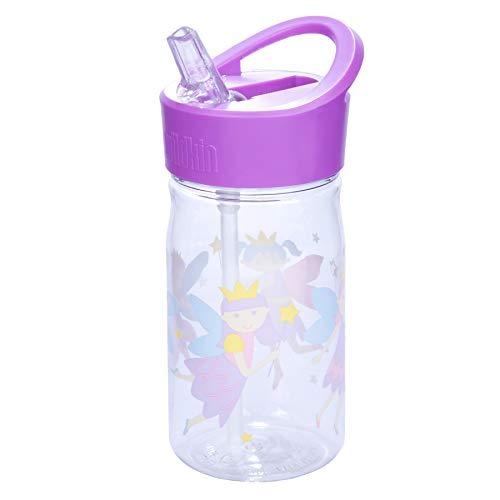 Wildkin Reutilizable niños de 16 onzas Botella de Agua para niños y niñas, Características de Paja Tapa y asa de Transporte, Patrones coordenada con Nuestras Cajas de Almuerzo y Bolsas de Almuerzo