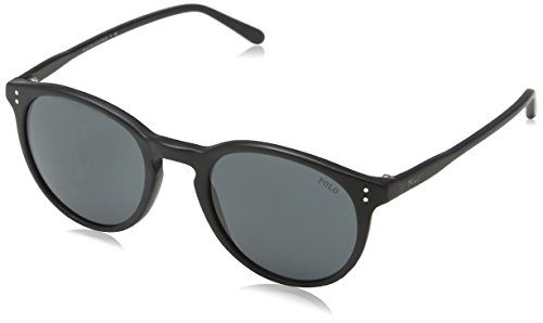 Ralph Lauren Polo 0PH41108487 Occhiali da Sole, Nero (Matte Black/Grey), 50 Uomo