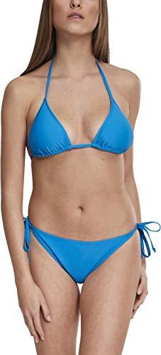Urban Classics Ladies Side Knot Triangle Bikini, Azul (Hawaiianblue 01690), 85B (Talla del Fabricante: Small) para Mujer