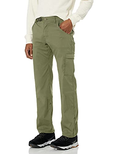 prAna Men's Standard Stretch Zion Pant, Cargo Green, 32W x 32L