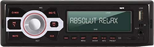 Imperial Dabman CAR 1 DAB+ Autoradio (DAB+/UKW, Bluetooth incl. handsfree installatie, 4 x 25 watt, microSD-kaartlezer, USB, AUX In) zwart